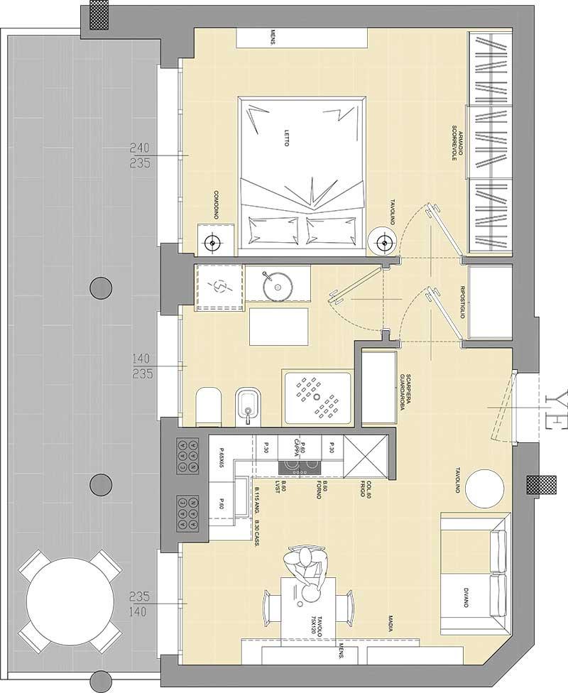 Residenza Cascina Gaita Appartamento Bilocale con terrazzo
