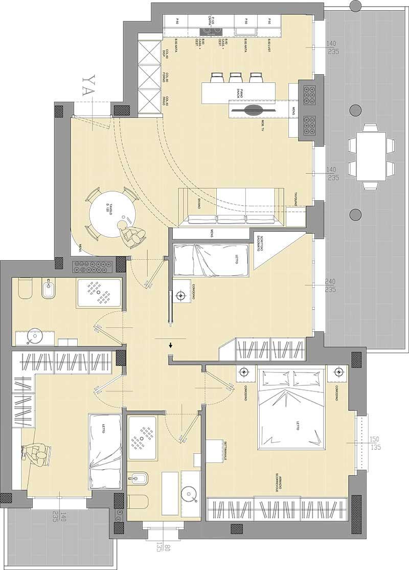 Residenza Cascina Gaita Appartamento Quadrilocale con terrazzo