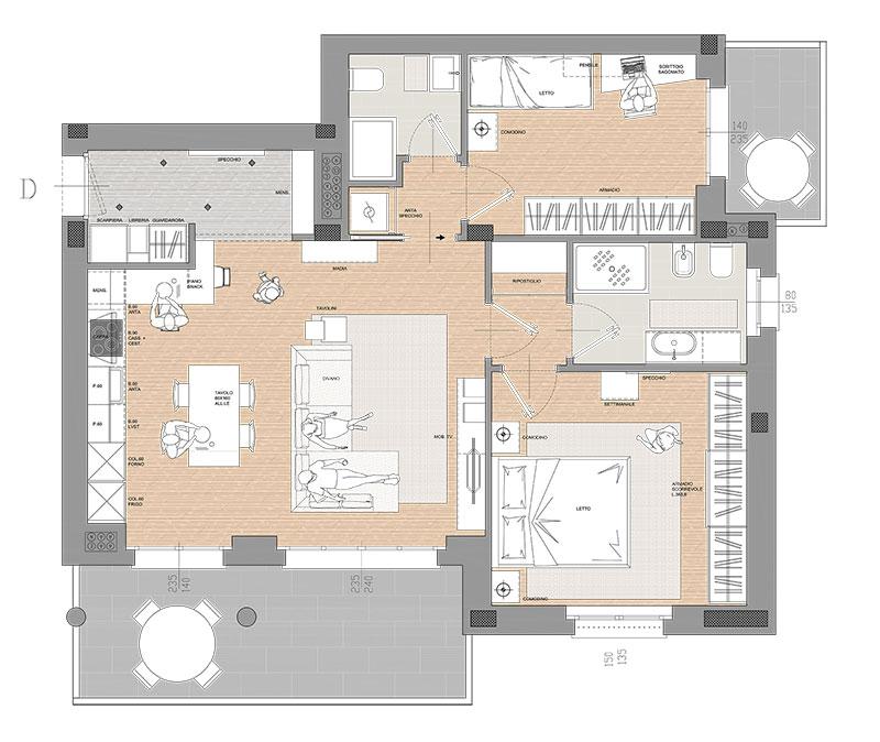 Residenza Cascina Gaita Appartamento Trilocale con Terrazzo