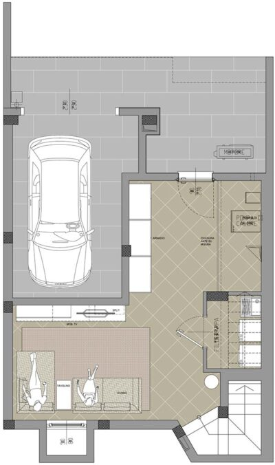 planimetria villa p1 residenza cascina gaita